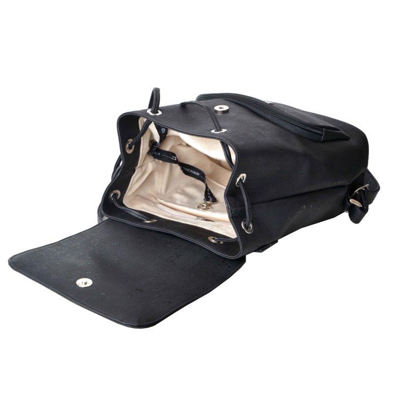 Plecak z naturalnego korka czarny