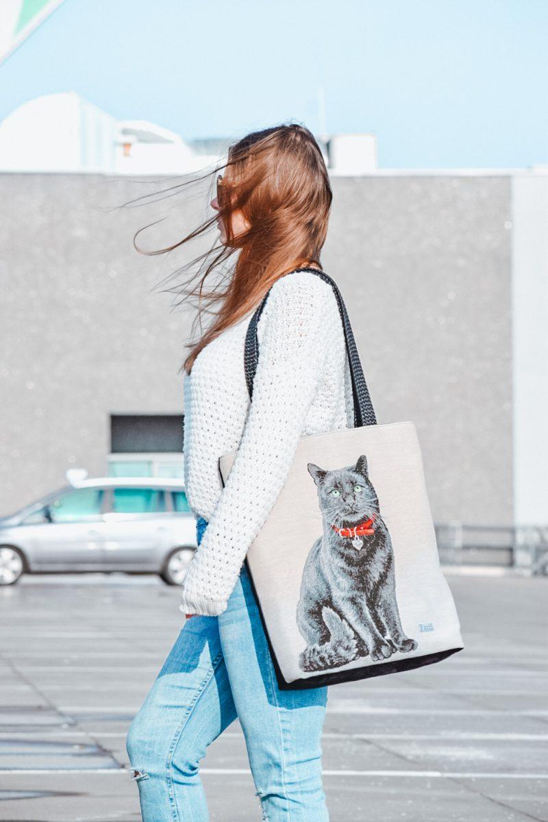 Shopper z kotem