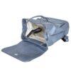 Damski plecak miejski w stalowym kolorze