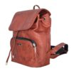 Leather Backpack Cork Rusty Side