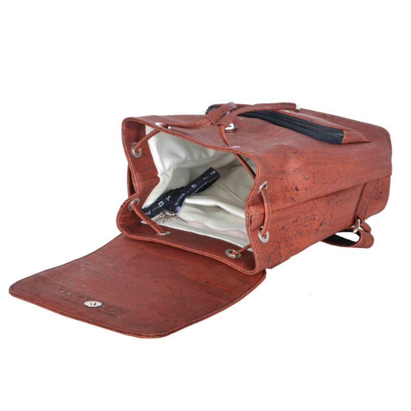 Plecak Korkowy Rdzawy Środek